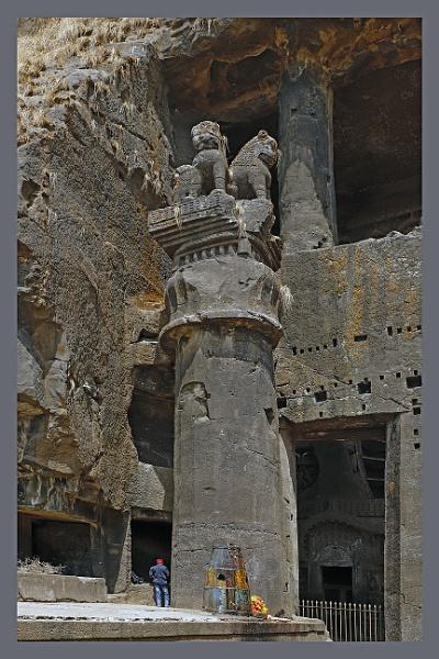 Karla Cave Pillar by prabhusinha