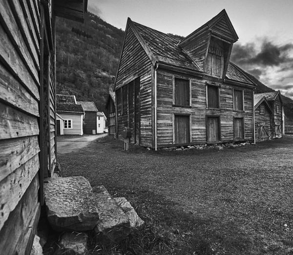 Old Town of Lærdal - No. 1 by galskjaer