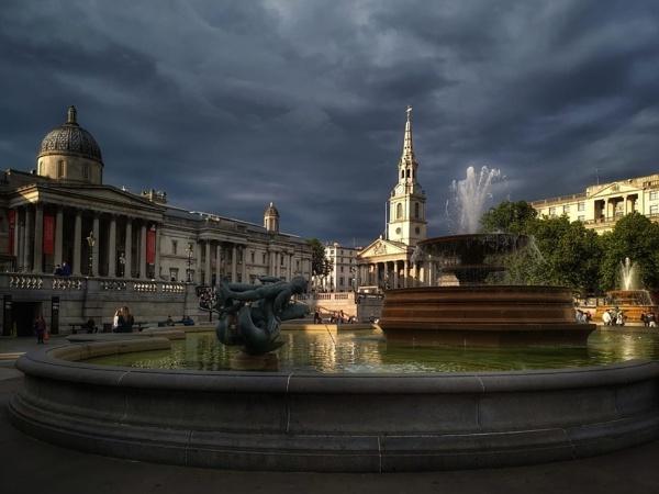 Before the storm Trafalgar Square London by StevenBest