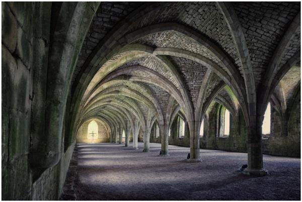 Fountains Abbey Cellarium by BigAlKabMan
