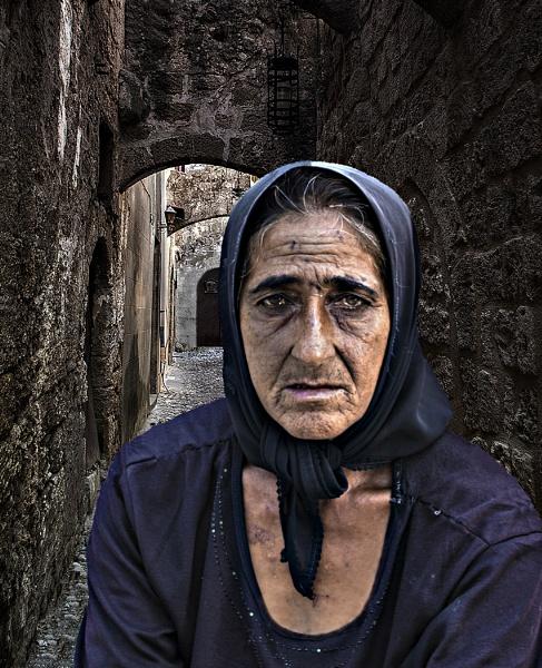 Street beggar Rhodes by ivalyn
