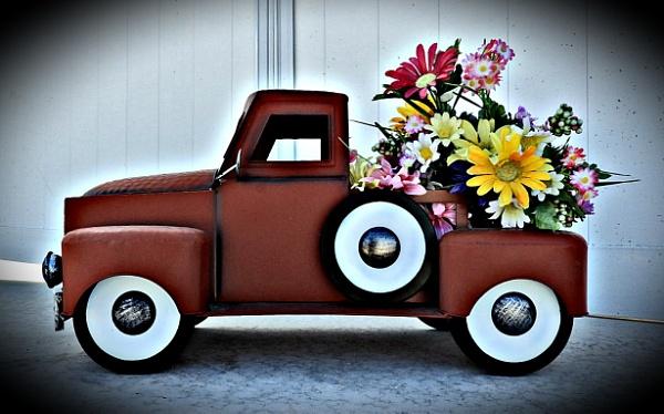 Truck load of flowers by photobuff36