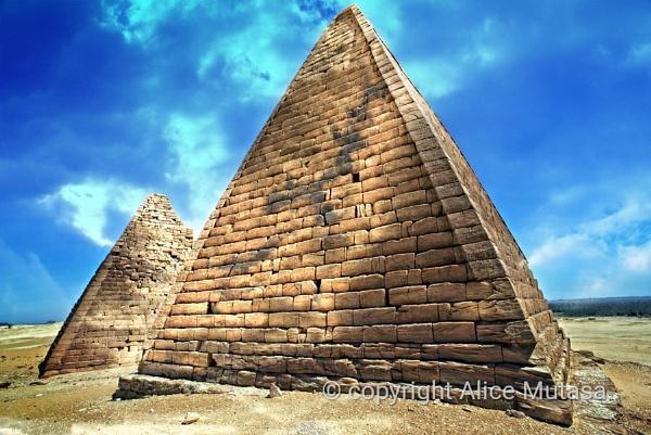 Pyramids of Jebel Barkal in Sudan by AliceM