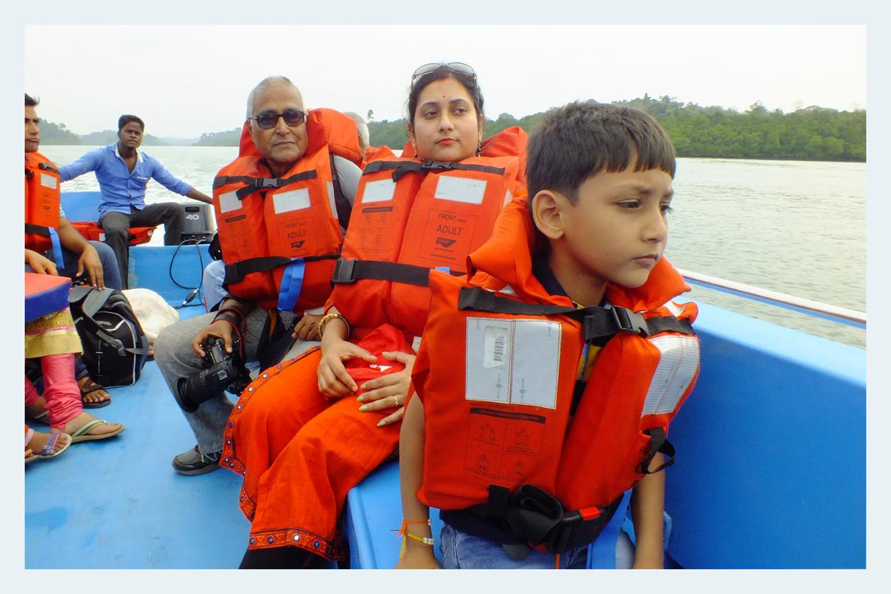 Gr.Son's first Speedboat ride