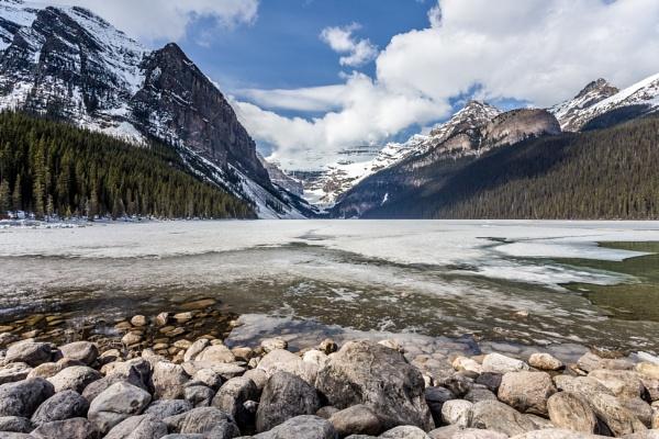 Lake Louise & Victoria Glacier by Yogendra