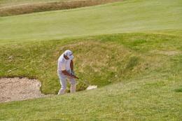 Golfer Hitting Golf Shot IV