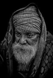 Hindu pilgrim deep in contemplation.......