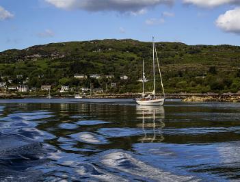 Sailing from Tarbert to Portavadie