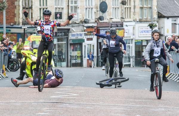 British Unicycling Championships Man Down by philtaylorphoto