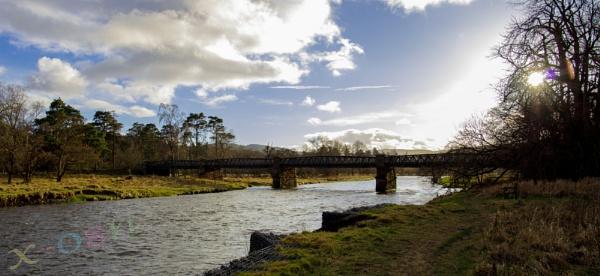 Tweed River w/ Bridge @ Innerleithen by xosn