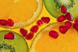 Fruit in soda water