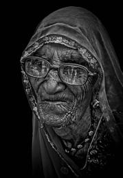 Old Rajasthani woman of Pushkar