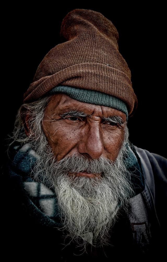 Pensive mood of a hindu pilgrim