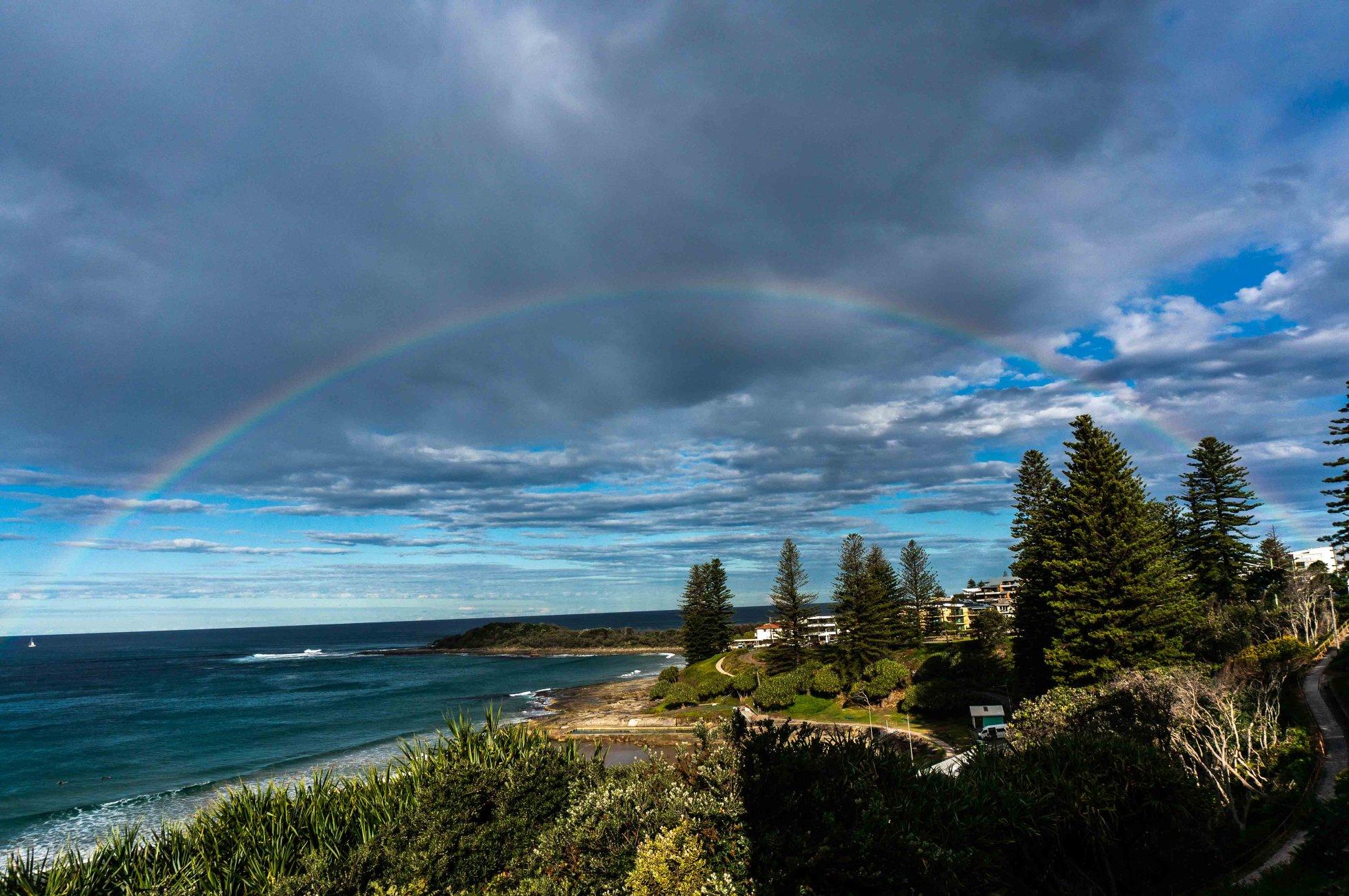 Rainbow over Yamba.