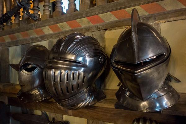 Armoured Helmets by bwlchmawr