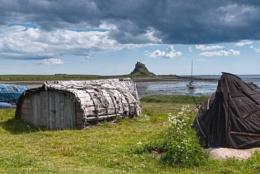 Boat sheds at Linsdisfarne