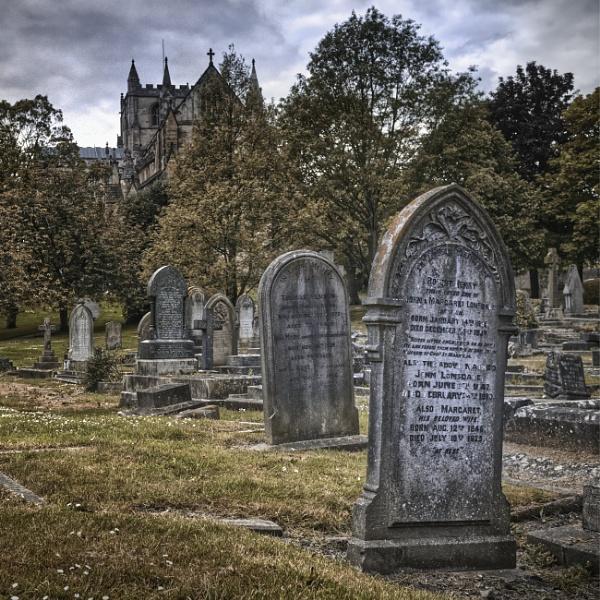 Gravestones at Ripon Cathedral by BigAlKabMan