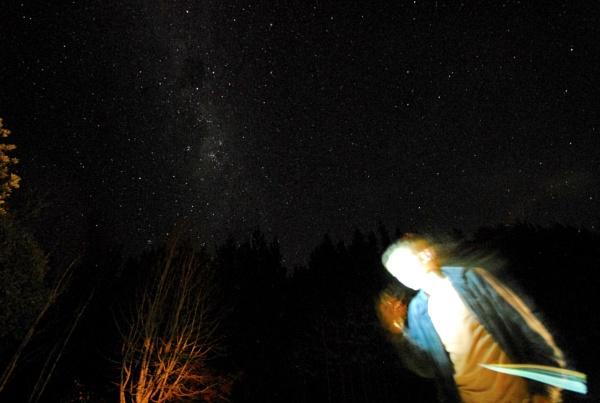Phone against the Night Sky by heyitshenry