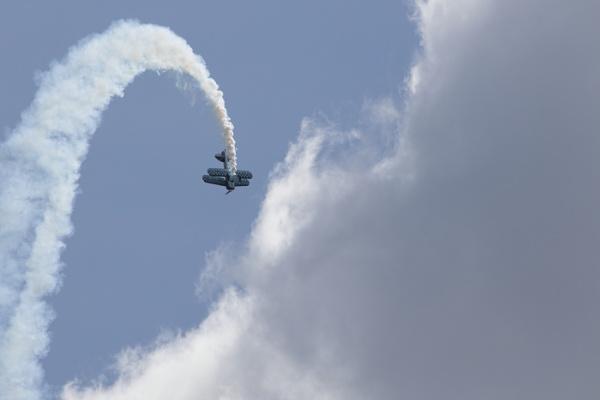 Loop to the clouds, Bi Plane by royd63uk