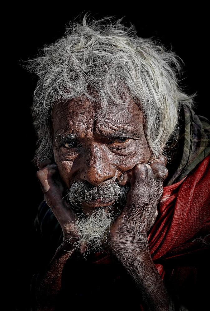 Portrait of an unfortunate  leper..........