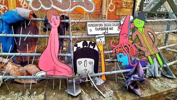 Art on the bridge by KrazyKA
