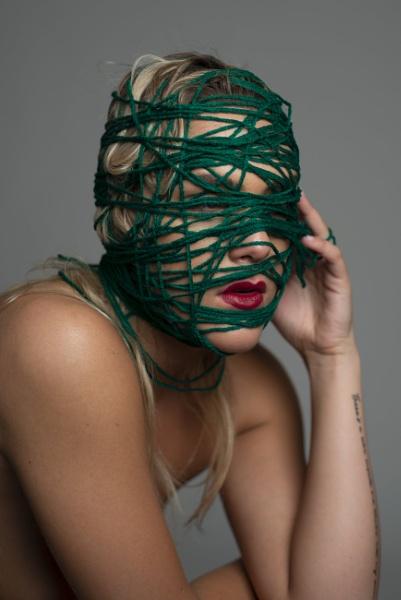 Portrait with yarn by Ahem