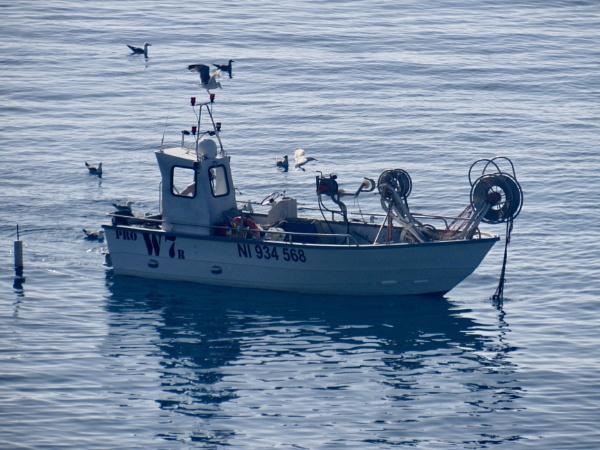 Mediterranean fishing boat by oldgreyheron