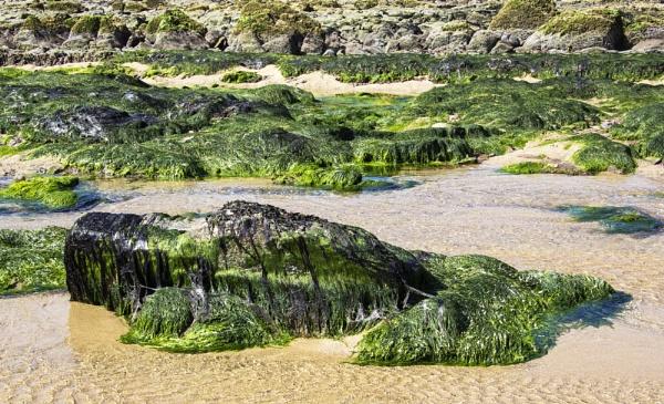 Manorbier Beach Rocks by Irishkate