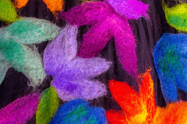 Abstract colorful wool by rninov