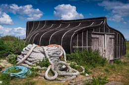 Boat shed at Lindisfarne