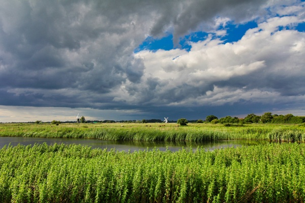Storm clouds over the Norfolk Broads by timmiller