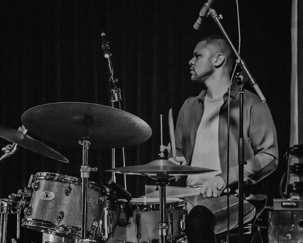 Drummer Myele Manzanza by barryyoungnz