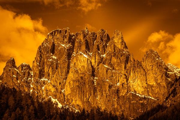 Mountains in the Valley di Fassa near Pozza di Fassa Trentino It by Phil_Bird