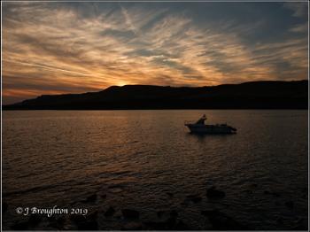 Evening time in Kimmeridge Bay.