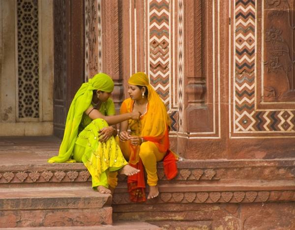 Young Women, Taj Mahal, India by Ron50