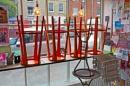 Cafe Window, South Street, Bridport. by starckimages