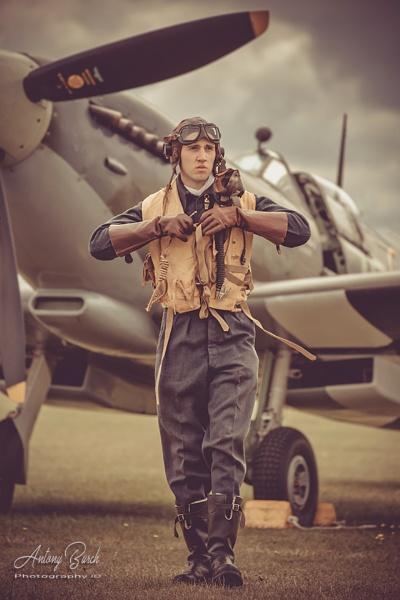 Spitfire Pilot by AntonyB