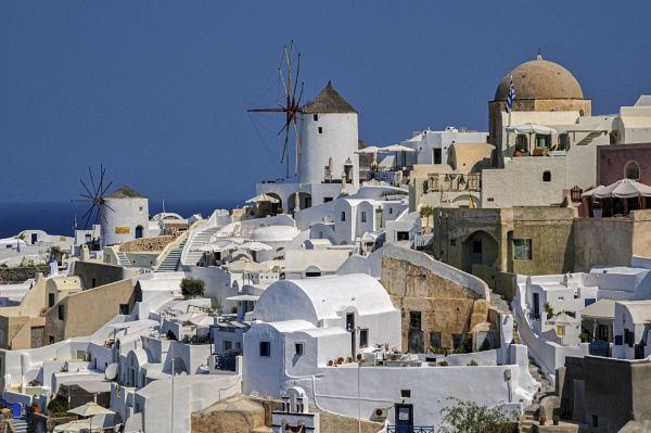 Santorini rooftops by BrianSS
