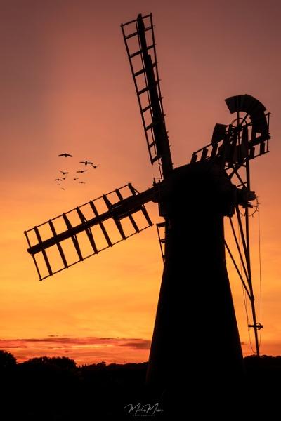 Thurne Mill Sunset by DiazSprite