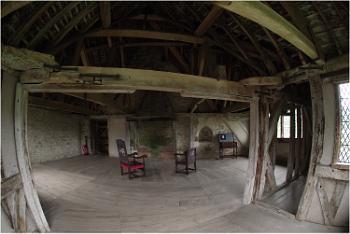 Upper floor at Stokesay Castle