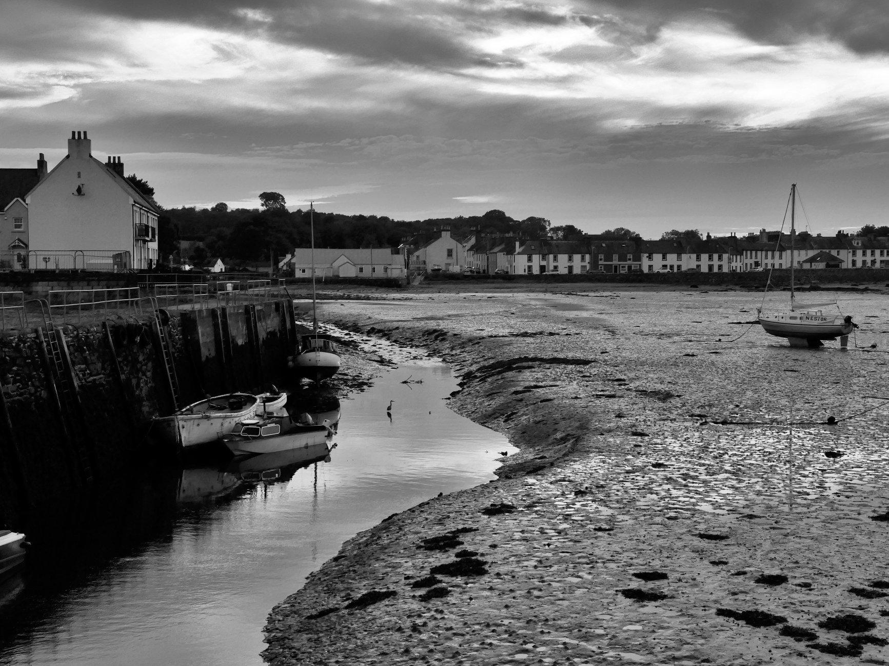 The Harbour Garlieston at low tide