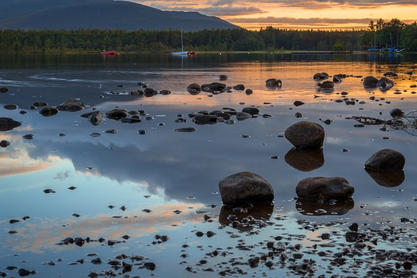 View of Loch Morlich at dusk by Phil_Bird