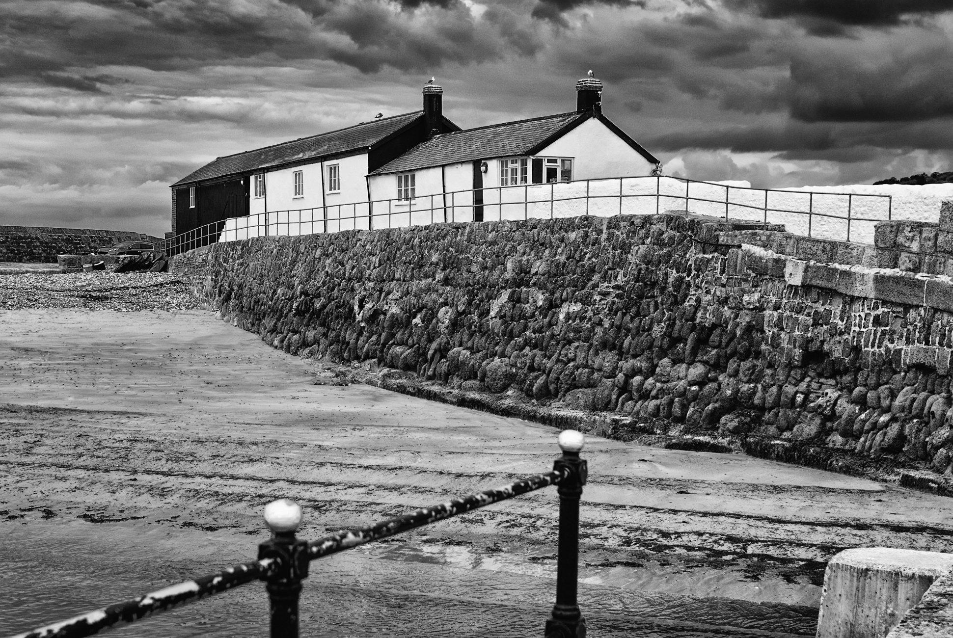 Lyme Regis - Back of the Cobb Buildings