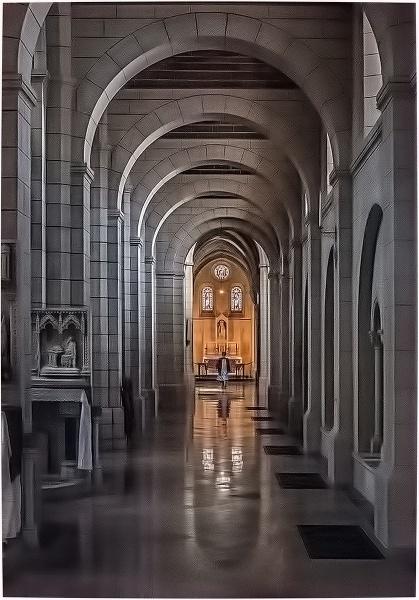South Aisle Buckfast Abbey church by ivalyn