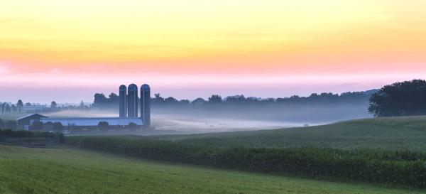 Dawn over the farmland_1 by TDP43