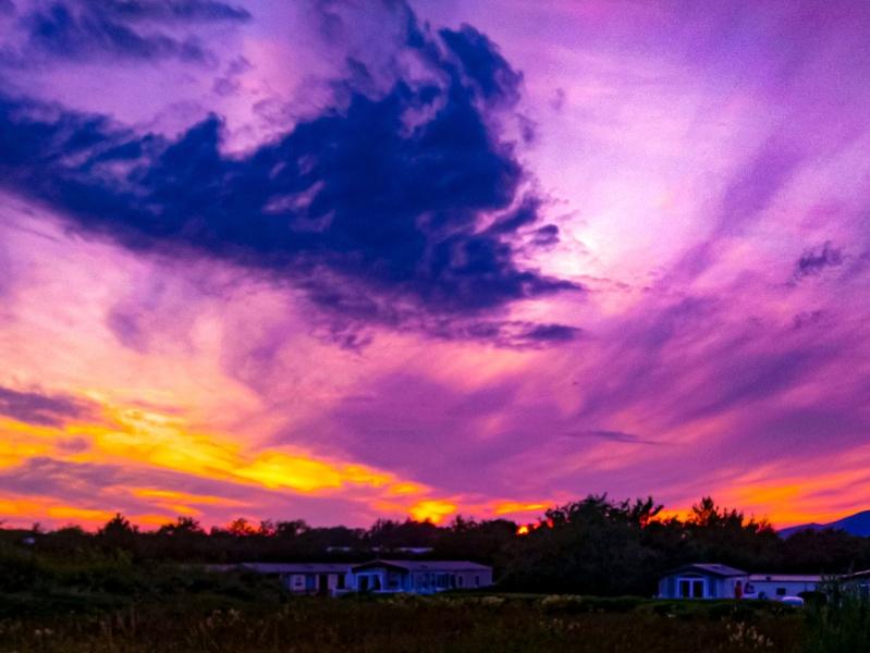 Sunset over Pwllheli