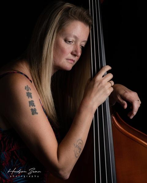 Bass player Emma Spires by sunsetskydancer