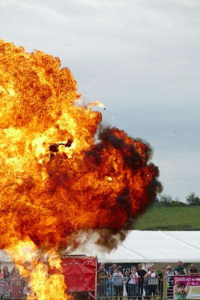 Riding through fire by blackgreyhound