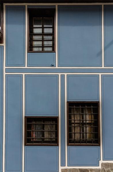 Wooden windows on house by rninov