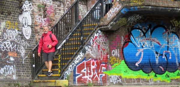 Among the graffiti by newbe2